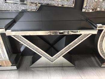 *Diamond Crush Sparkle Crystal Elise Console Table120cm