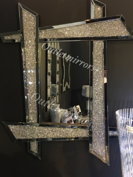 * New Diamond Crush Sparkle  Zezan Wall Mirror 120cm x 93cm item in stock for a fast delivery
