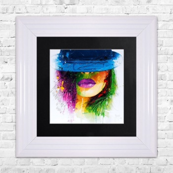 "Patrice Murciano Framed ""Hat"" print small 55cm x 55cm"