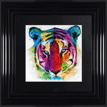 "Patrice Murciano Framed ""Tiger"" print small 55cm x 55cm"
