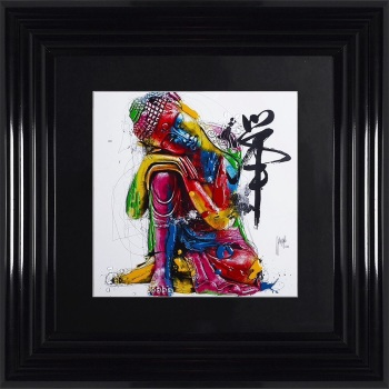 "Patrice Murciano Framed ""Buddha"" print small 55cm x 55cm"