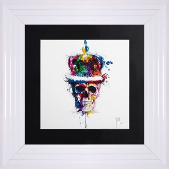 "Patrice Murciano Framed ""Crown skull"" print small 55cm x 55cm"