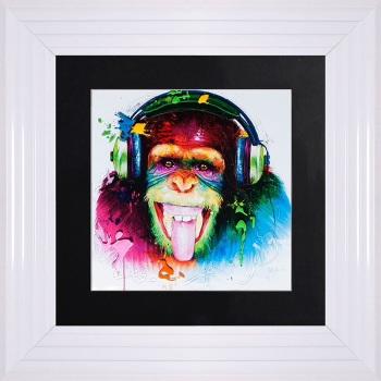 """Patrice Murciano Framed """"DJ Monkey"""" print small 55cm x 55cm"""