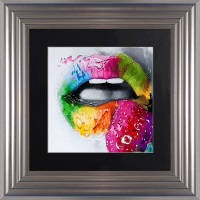 "Patrice Murciano Framed ""Strawberry"" print small 55cm x 55cm"