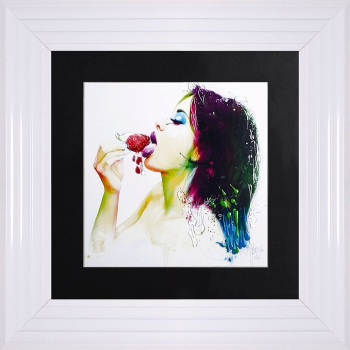 "Patrice Murciano Framed ""Fruity Kiss"" print small 55cm x 55cm"