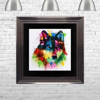 "Patrice Murciano Framed ""Wolf "" print medium 75cm x 75cm"