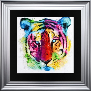 "Patrice Murciano Framed ""Tiger"" print medium 75cm x 75cm"