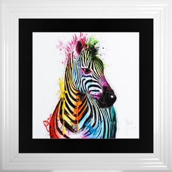 "Patrice Murciano Framed ""Zebra"" print medium 75cm x 75cm"