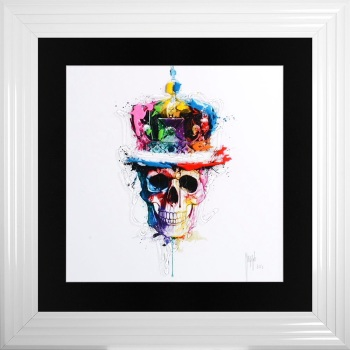 "Patrice Murciano Framed ""Crown Skull"" print medium 75cm x 75cm"