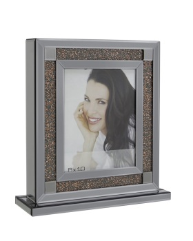 "Smoked Crush Copper Sparkle Glitter Mirror Photo frame 8"" x 10"""