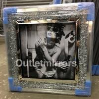 """Classy Lady"" Wall Art in a diamond crush frame"