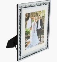 "Floating Crystal Mirror Photo frame 8"" x 10"""