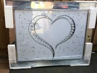 "Mirror framed art print "" Sparkle Love Heart"" 95cm x 75cm"