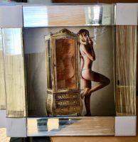 Mirror framed classic Cigar smoking Naked Lady 1 Wall Art