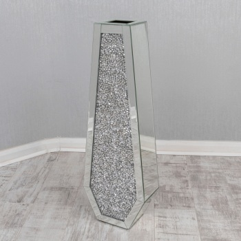 * New Diamond Crush Sparkle Crystal Mirrored Vase instock for a fast delivery
