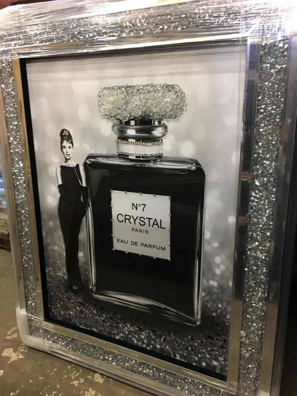 Quot Audrey Hepburn No 7 Crystal Perfume Quot Wall Art In A