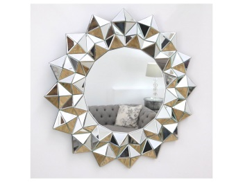 Star Faceted Bevelled Mirror Centre 91cm dia