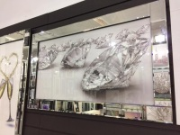 "Mirror framed ""Sparkle Diamonds"" Wall Art in stock for a fast delivery"