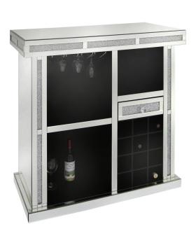 Crush sparkle Mirrored Wine Bar