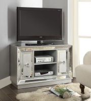 Sofia Mirrored 2 Door Corner Tv Entertainment Unit
