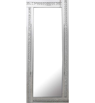 *Special Offer Glitz Floating Crystals Silver Wall Mirror 180cm x 70cm