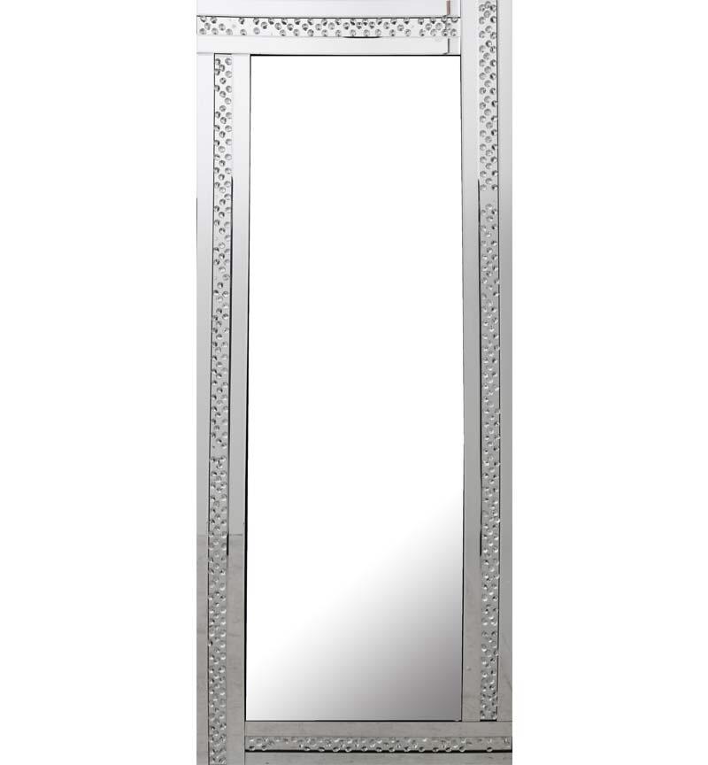 *Special Offer Glitz Floating Crystals Silver Wall Mirror 180cm x 70cm