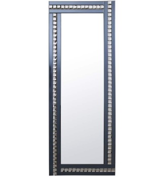 Frameless Bevelled Crystal Border Smoked Grey Mirror 180cm x 70cm