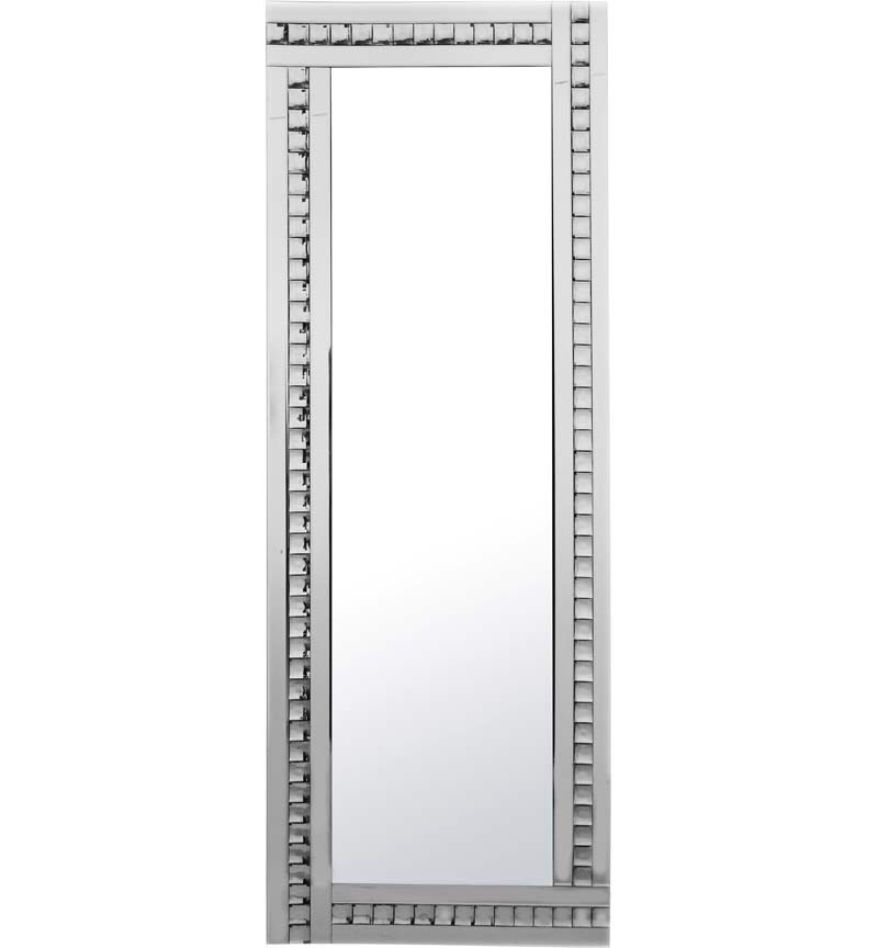 Frameless Bevelled Crystal Border Silver Mirror 180cm x 70cm