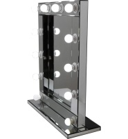 * Silver Free standing Hollywood Mirror 80cm x 60cm