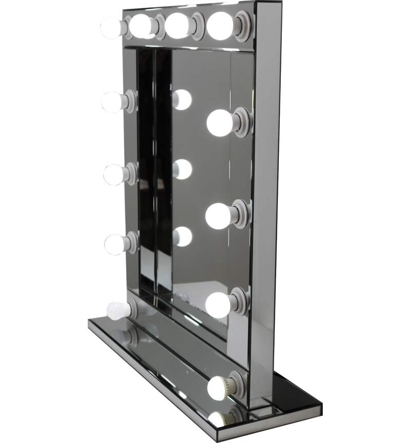 Silver Free standing Hollywood Mirror 80cm x 60cm