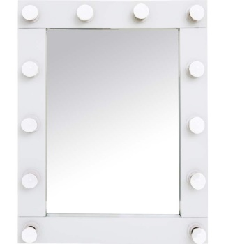 Wall mounted standing Hollywood Mirror 80cm x 60cm