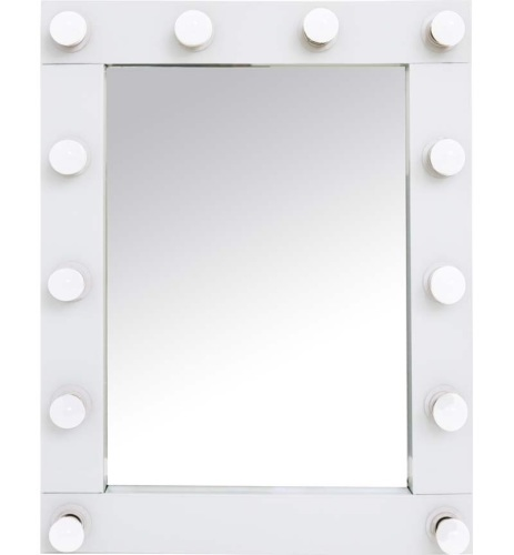 White Free standing Hollywood Mirror 80cm x 60cm