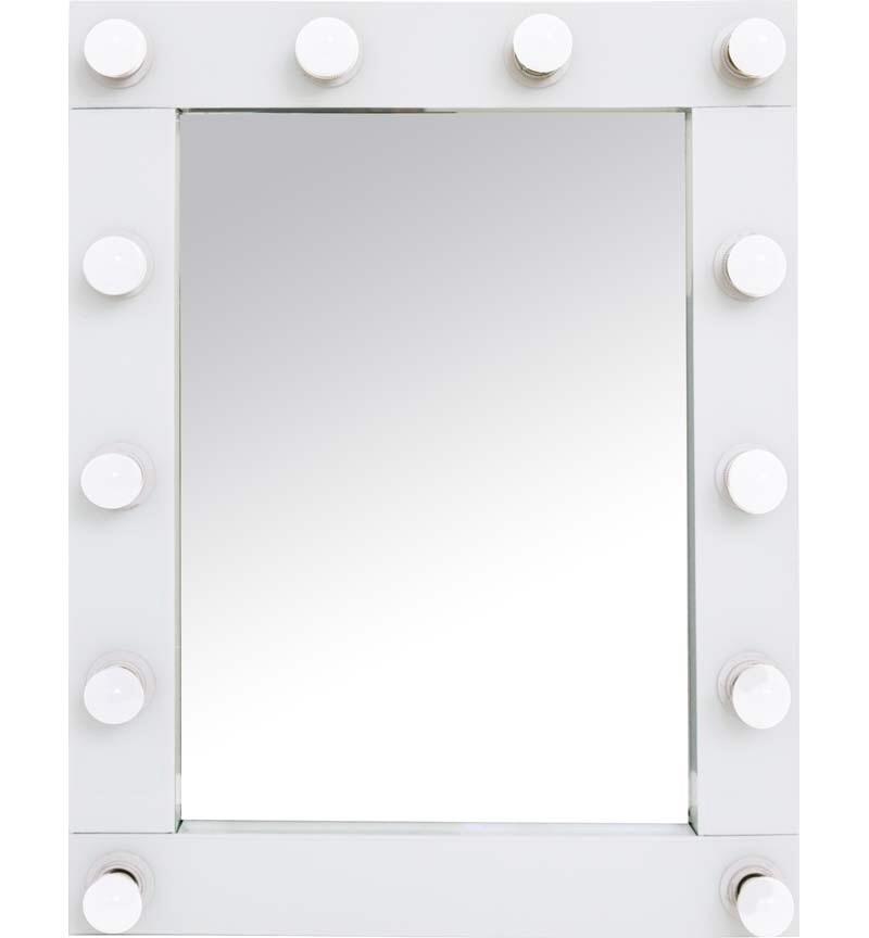 White Free standing Hollywood Mirror 80cm x 60cm