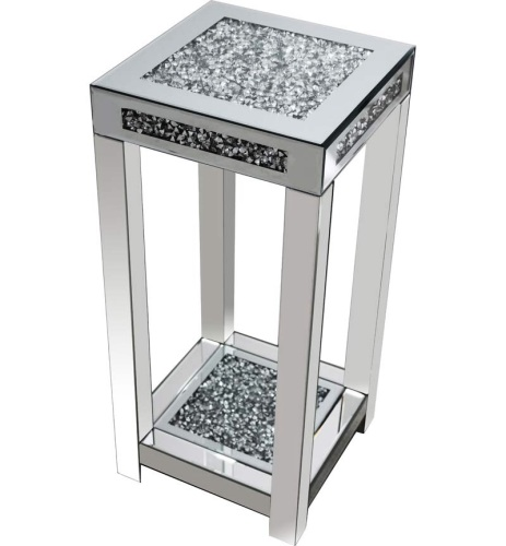 * Diamond Crush Sparkle Crystal Mirrored Lamp Table Border Trim