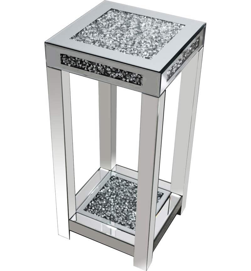 * Diamond Crush Sparkle Crystal Mirrored Lamp Table Border Trim