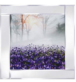 Mirror framed art print Purple Iris Meadow