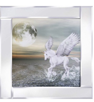 Mirror framed art print Pegasus Moon
