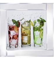Mirror framed art print Summer Cocktails