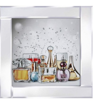 Mirror framed art print Perfume Bottles