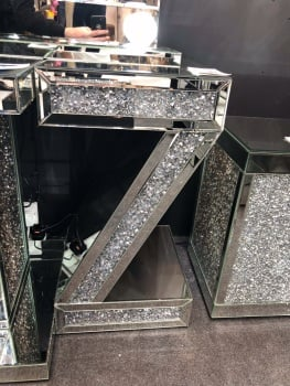 * Diamond Crush Sparkle  Z Lamp Table  in stock