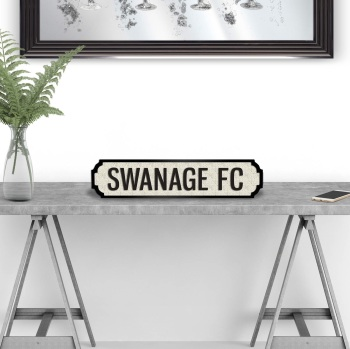 Swanage  FC Street sign