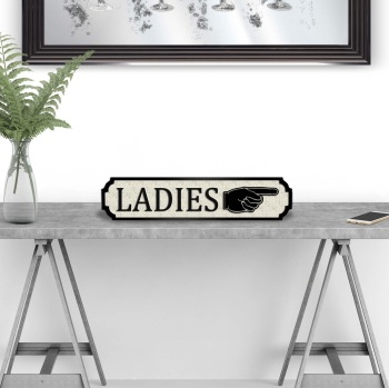 Ladies to the Right Street Sign