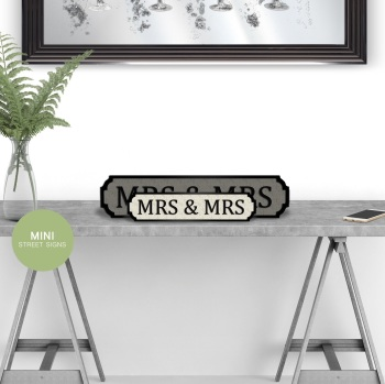 Mrs & Mrs Mini Street Sign