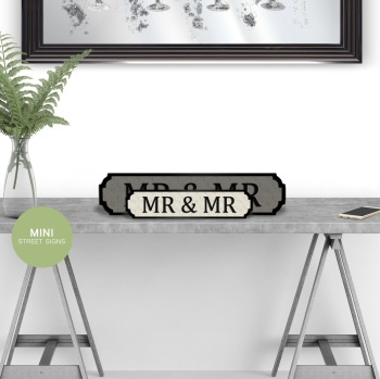 Mr & Mr Mini Street Sign