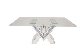 "* Diamond Crush Sparkle Dining Table ""V"" in stock for immediate delivery pre xmas"