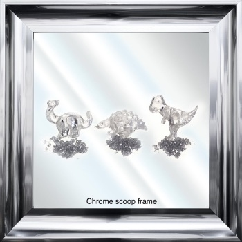 Jake Johnson 3D Dinosaurs wall art on a Mirror background in choice of frames