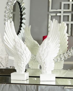 Angels Wings White left and right pair 49cm x 8cm x 20cm