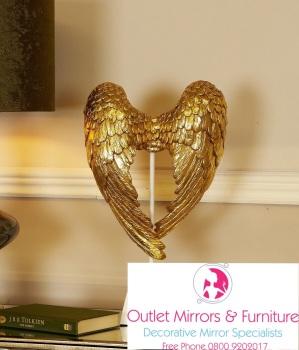 Angels Wings Gold 49cm x 11cm x 30cm