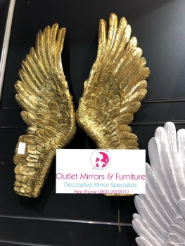 Angels Wings in Gold Large 90cm x 8cm x 36cm