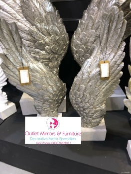 Angels Wings Mother of Perl  left and right pair 49cm x 8cm x 20cm